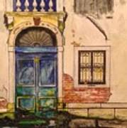 Blue Door Venice Art Print