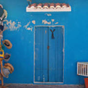 Blue Doors In Mexico Art Print