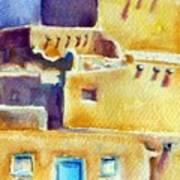 Blue Doors Of The Taos Pueblo Art Print