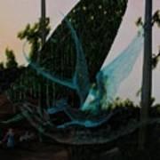 Blue Dragon-detail Art Print