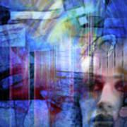Blue Drama Vision Art Print