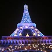 Blue Eiffel Art Print