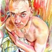 Blue Eyes Heartbreaker Art Print
