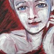 Blue Eyes - Portrait Of A Woman Art Print