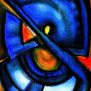 Blue Fans - Pastels Art Print