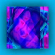Blue Fashion Art Print