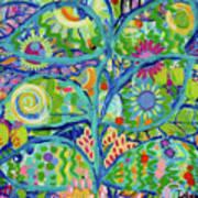 Blue Fish Forest Art Print