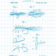 Blue Fishing Lure Patent Art Print