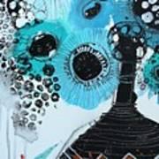 Blue Flowers In A Vase Art Print