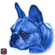 Blue French Bulldog Pop Art - 0755 Wb Art Print