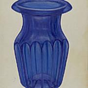 Blue Glass Art Print