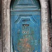Blue Gothic Door In Venice Art Print