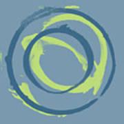 Blue Green 1 Art Print