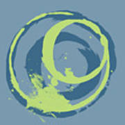 Blue Green 2 Art Print