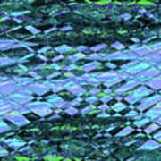 Blue Green Ocean Abstract Art Print