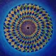 Blue Green Planet Art Print