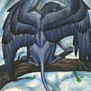 Blue Griffin Art Print