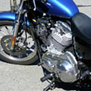 Blue Harley Art Print