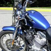 Blue Harley One Art Print