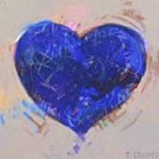 Blue Heart 126 Art Print