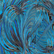 Blue Hearts Open Art Print