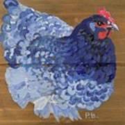 Blue Hen Art Print