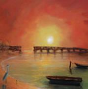 Blue Heron Bay  Art Print