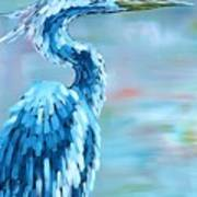 Blue Heron Art Print by Holly Donohoe
