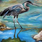 Blue Heron I Art Print