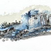 Blue Hillside Art Print