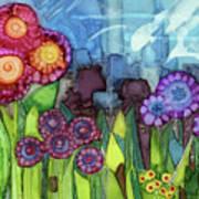 Blue Hoo Hoo Skies Art Print