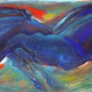 Blue Horses 2 Art Print