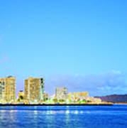 Blue Hour Honolulu Art Print