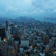 Blue Hour In New York Art Print