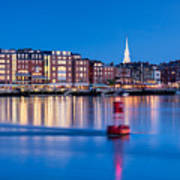 Blue Hour Over Portsmouth New Hampshire Art Print