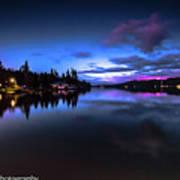 Blue Hour Reflected Art Print