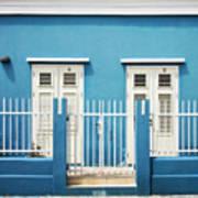 Blue Curacao House Art Print