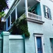 Blue House With A Blue Door Art Print