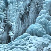 Blue Ice Flows At Tangle Falls Art Print