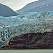Blue Ice In Fog Art Print