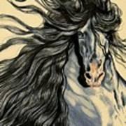 Blue Ice - Mustang Art Print