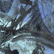 Blue Ice Pond 1  Art Print