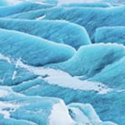 Blue Ice Svinafellsjokull Glacier Iceland Art Print