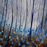 Blue In The Wood Art Print
