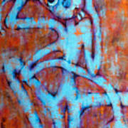 Blue Instinct Art Print