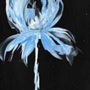 Blue Iris Bulb Art Print