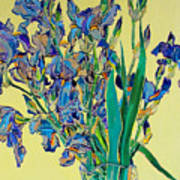 Blue Irises Art Print