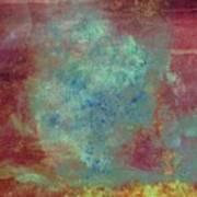 Blue Iron Texture Painting Art Print