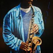 Blue Jazz Art Print