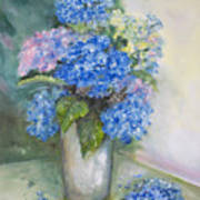 Blue Ladies Art Print
